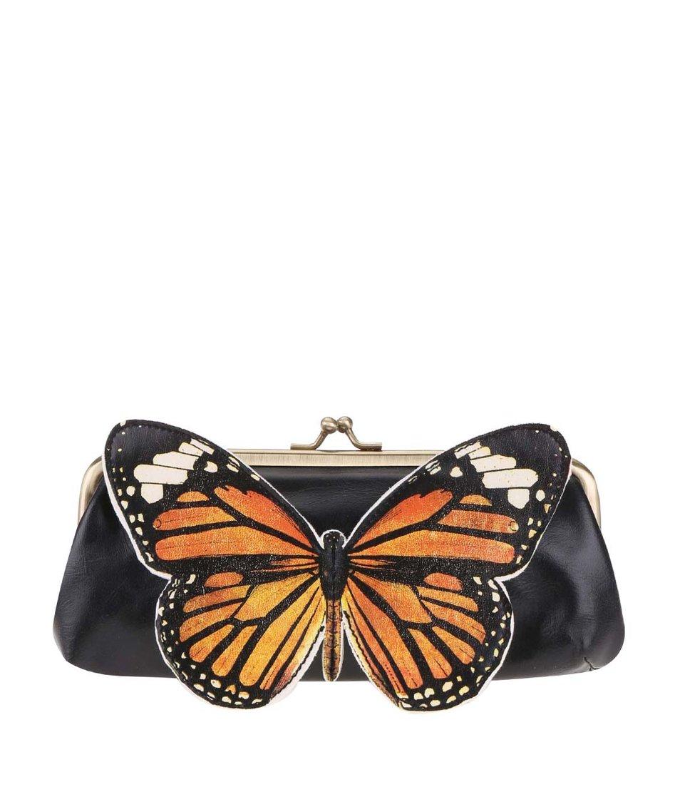 Černá peněženka s motýlem Disaster Bohemia