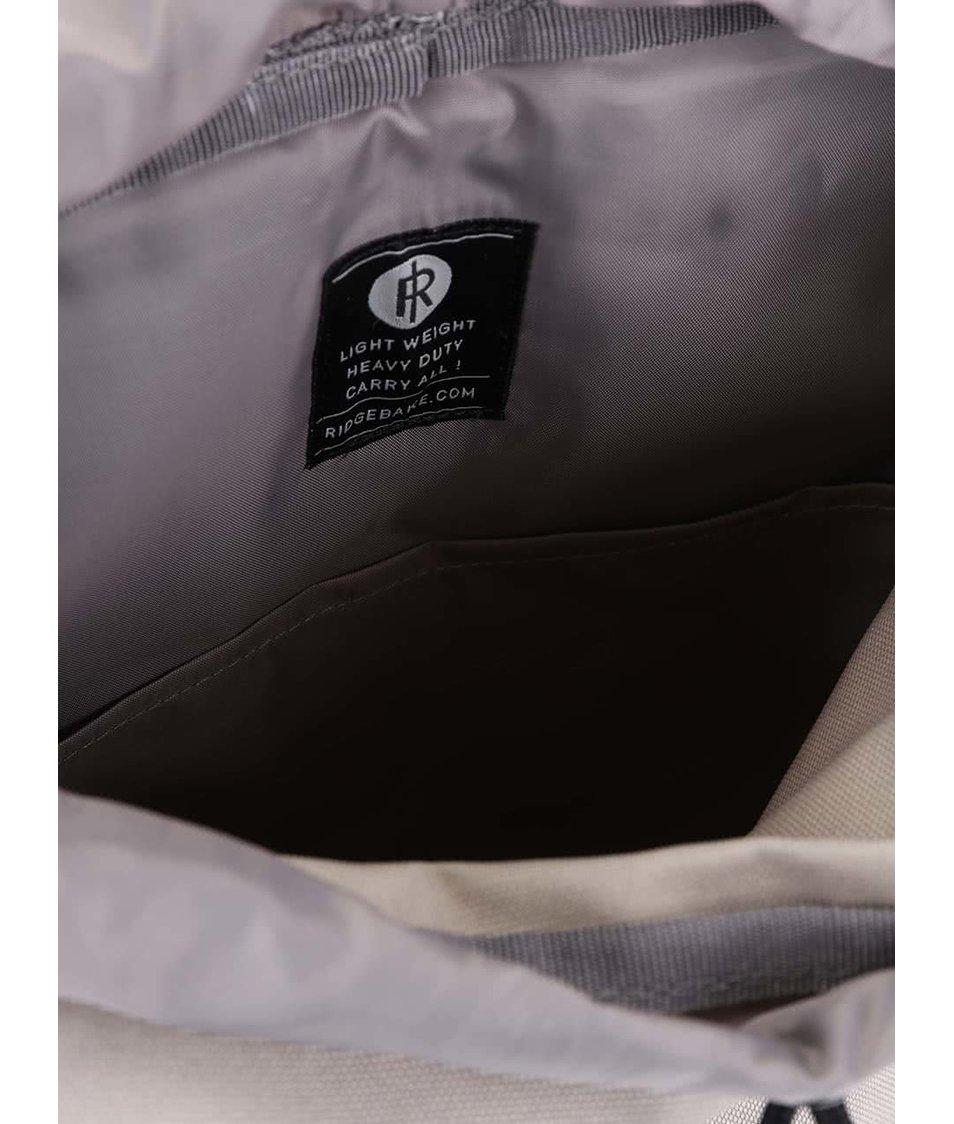 Světle šedý batoh s přezkou Ridgebake Glance