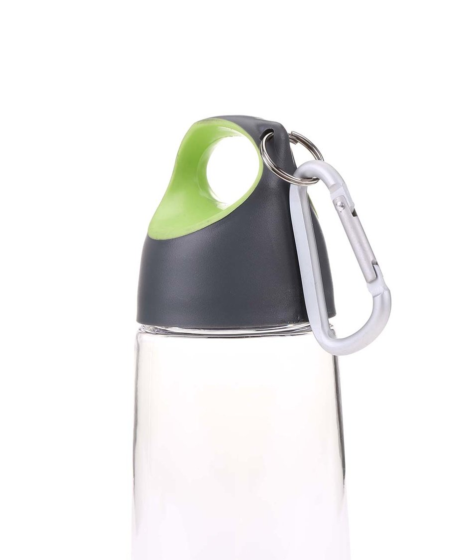 Zeleno-šedá láhev s karabinou XD Design Bopp Mini
