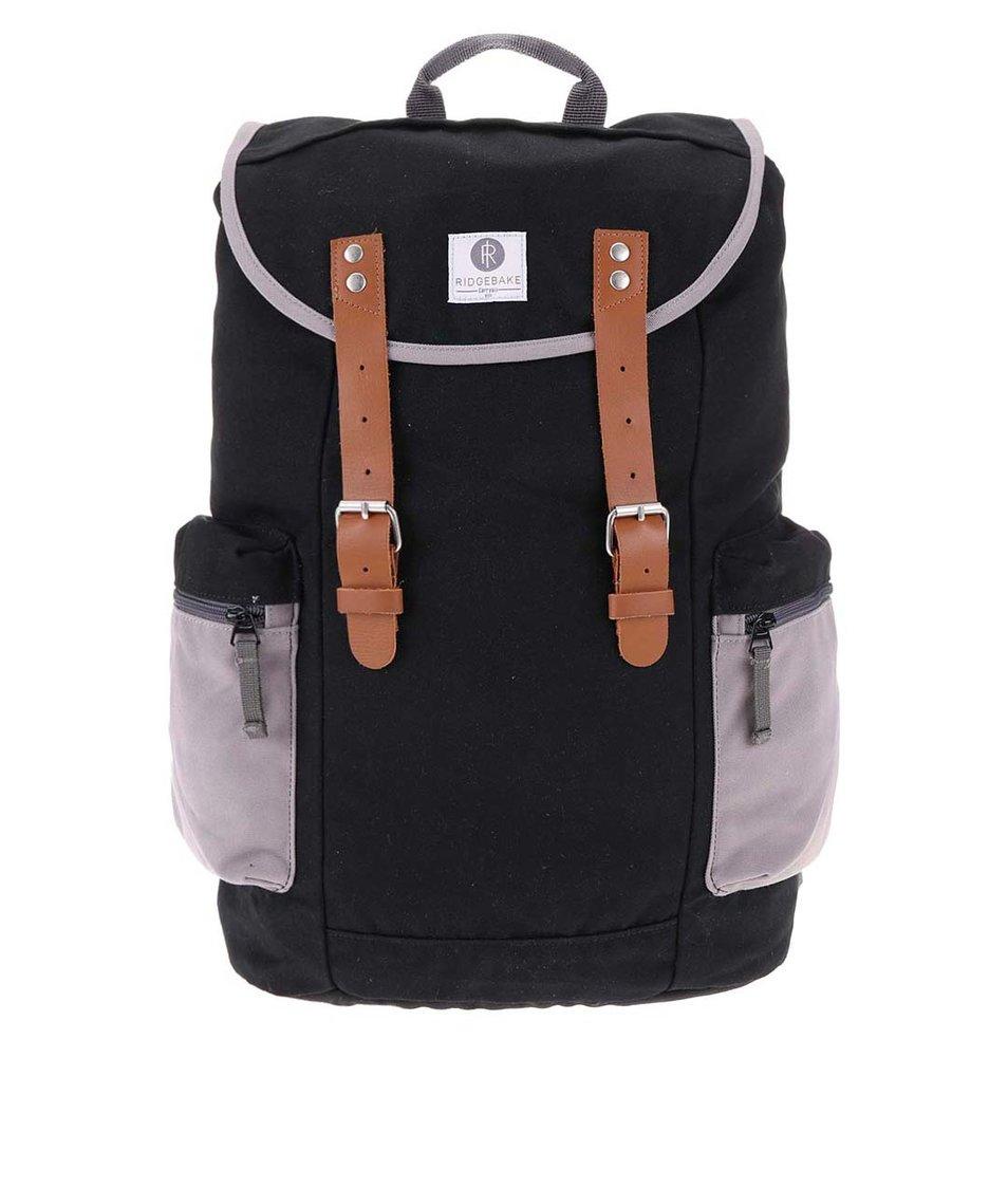 Šedo-černý větší batoh s kapsami Ridgebake Liam