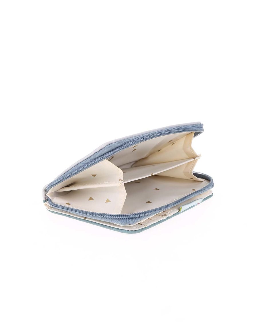 Barevná peněženka se vzory a potiskem lišky Disaster Nordikka