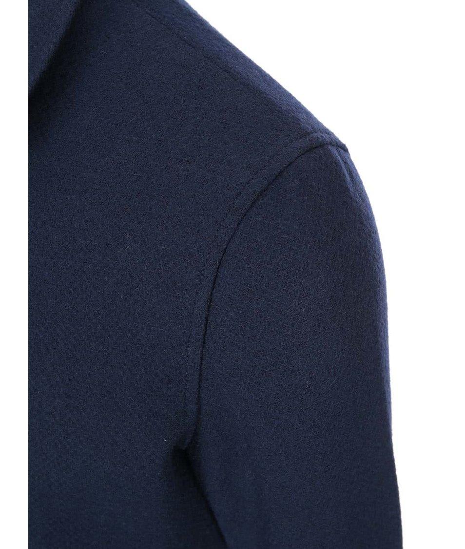 Modrý dlouhý kabát Jack & Jones Krow