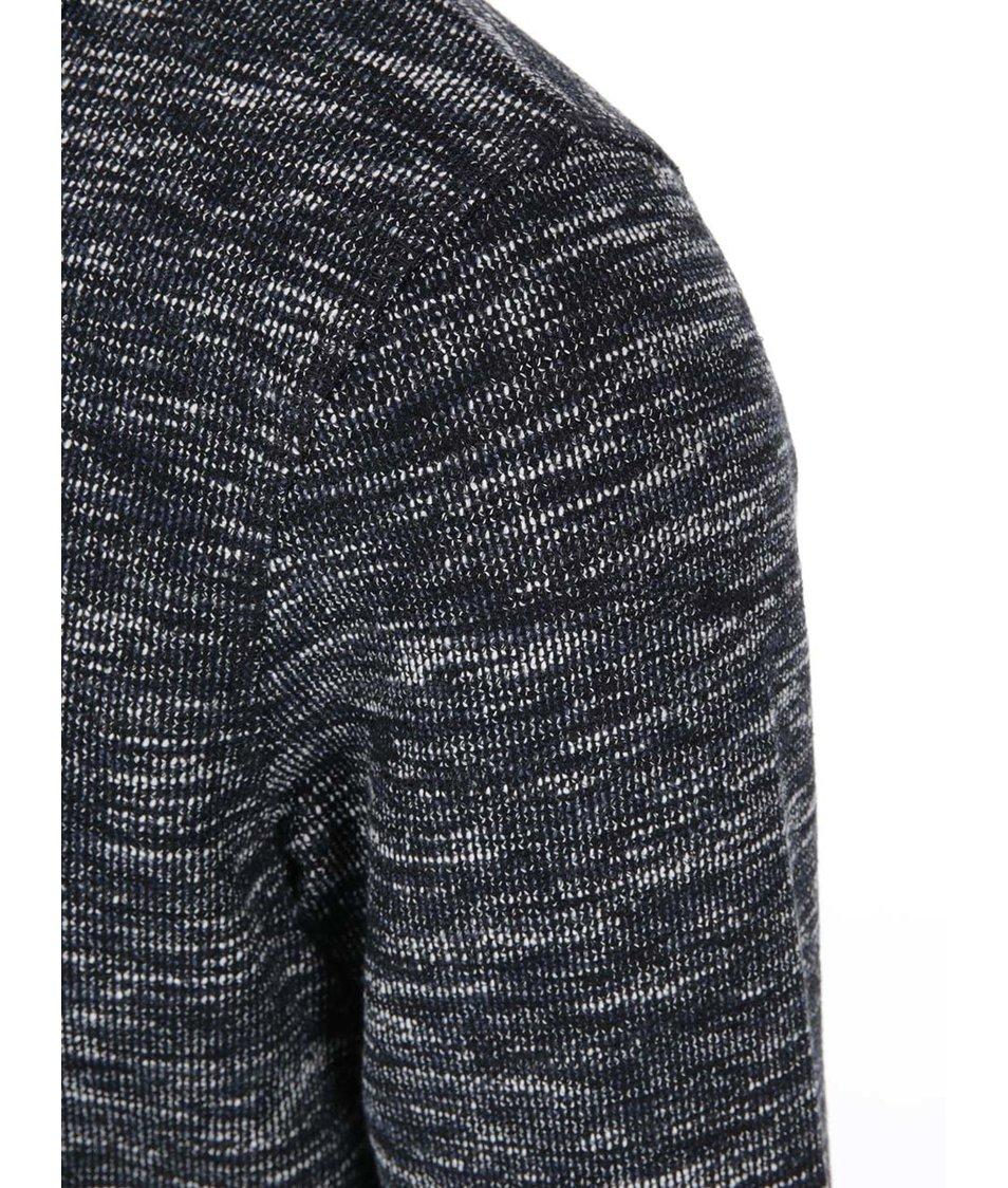 Krémovo-modrý žíhaný svetr Jack & Jones Lock