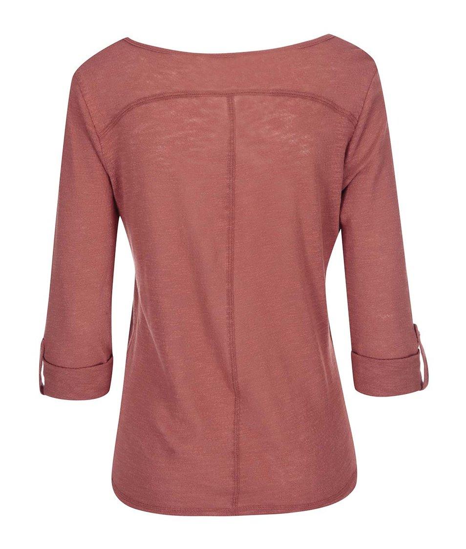 Cihlové tričko s 3/4 rukávem ONLY Jess