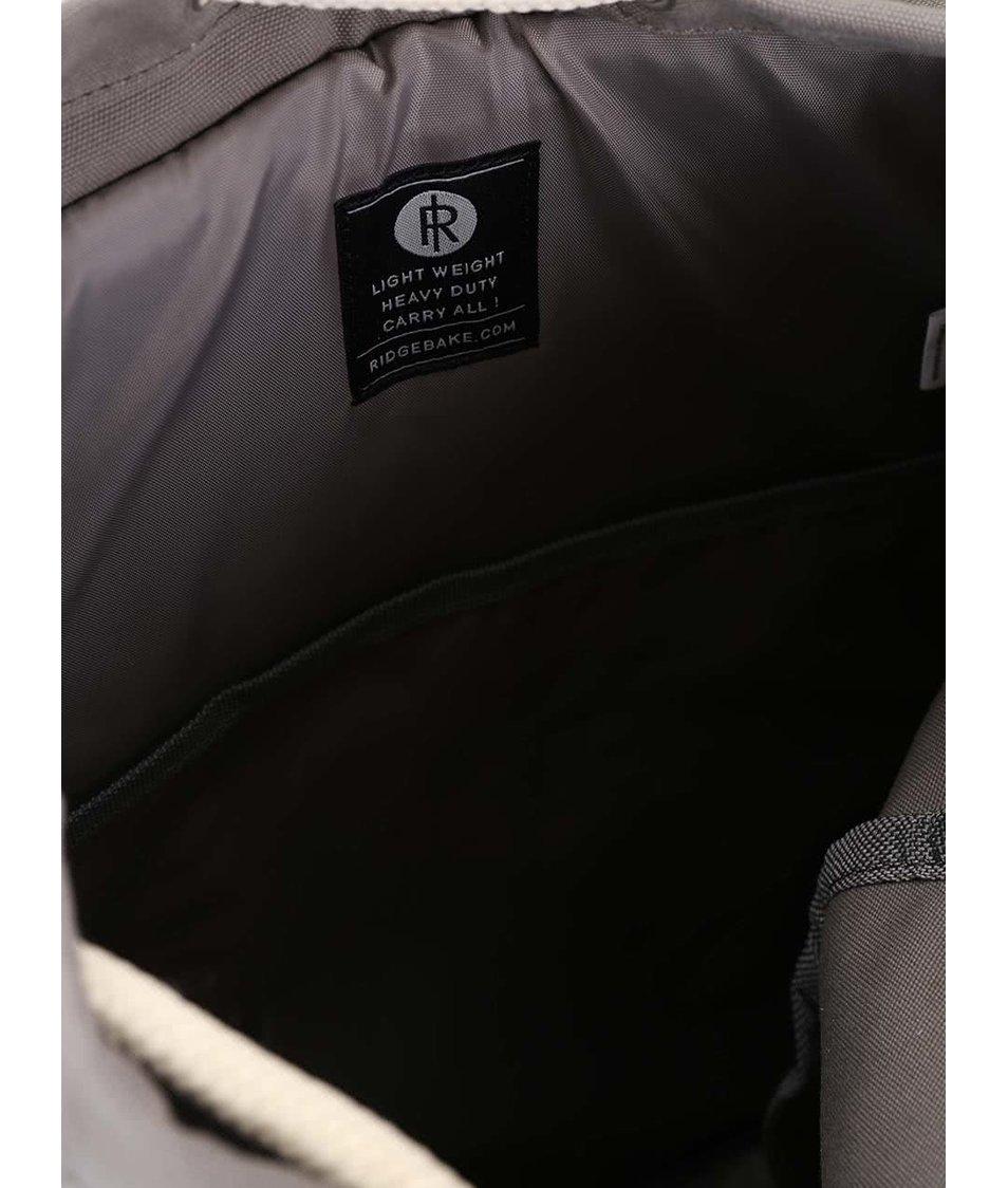 Zelenošedý větší batoh s hnědými kapsami Ridgebake Liam