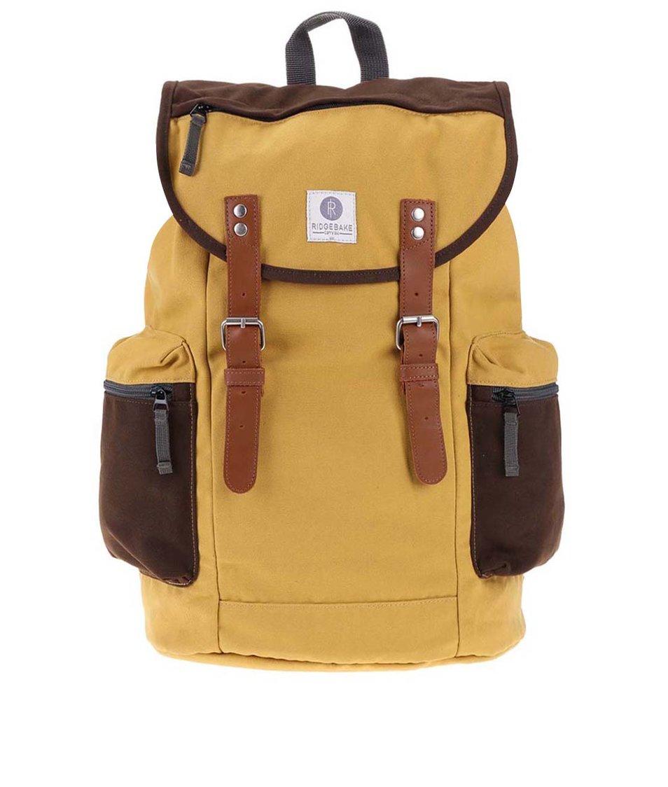 Hnědo-žlutý větší batoh s kapsami Ridgebake Liam