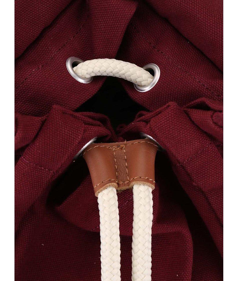 Růžovo-vínový batoh s kapsami Ridgebake Mid Liam