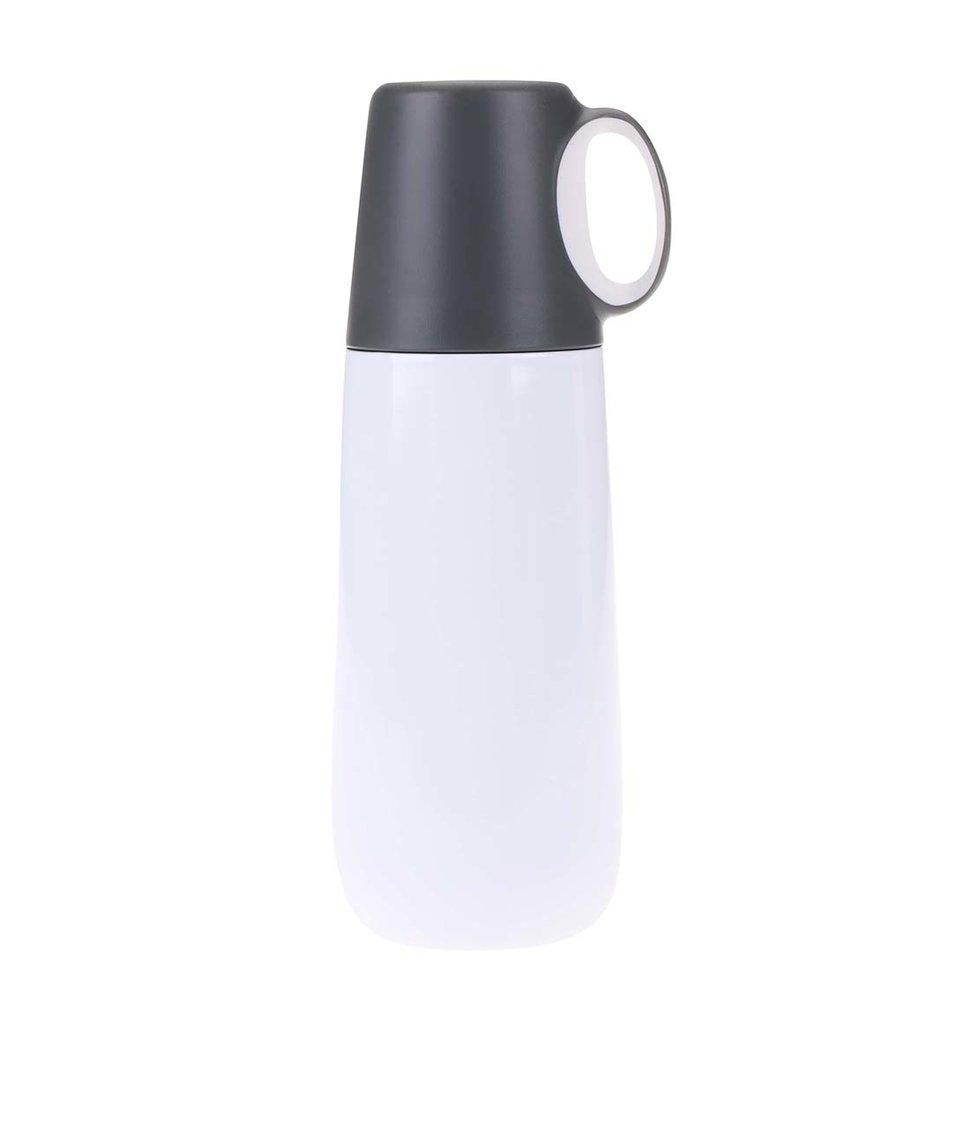 Šedo-bílá termoska XD Design Bopp Hot
