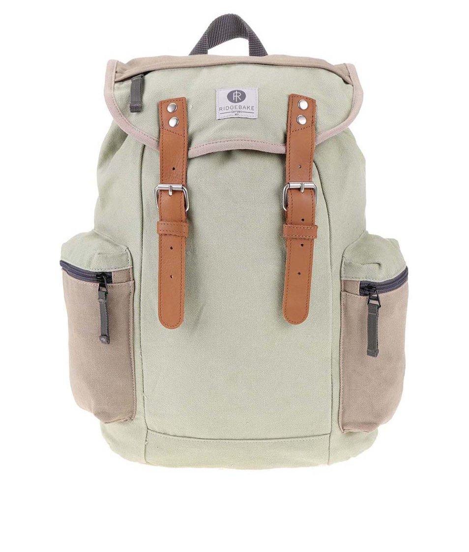 Béžovo-zelený batoh s kapsami Ridgebake Mid Liam