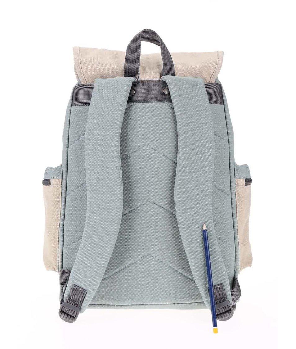 Krémovo-modrý batoh s kapsami Ridgebake Mid Liam