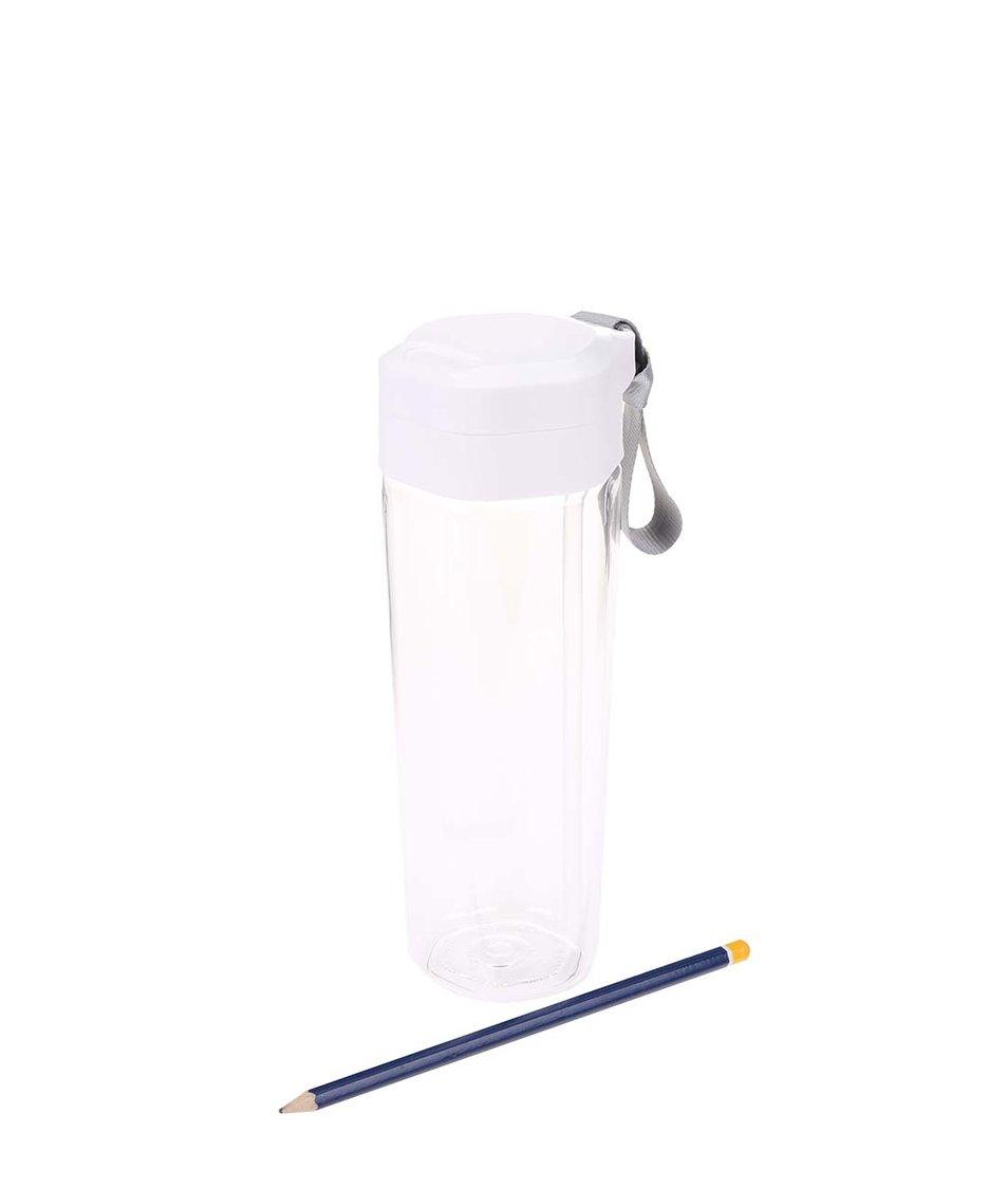 Bílá láhev na pití s brčkem a úchytem XD Design Turner