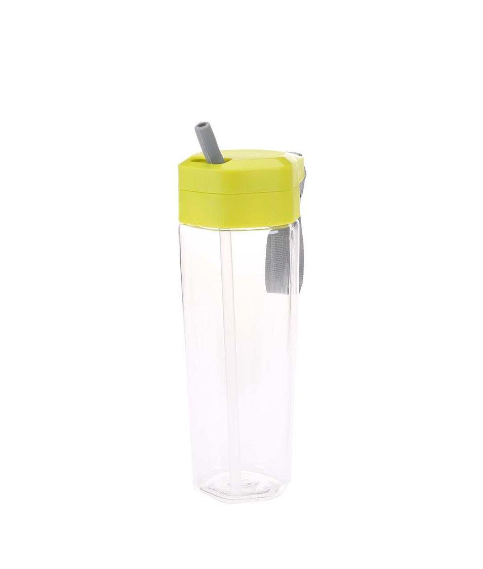 Zelená láhev na pití s brčkem a úchytem XD Design Turner
