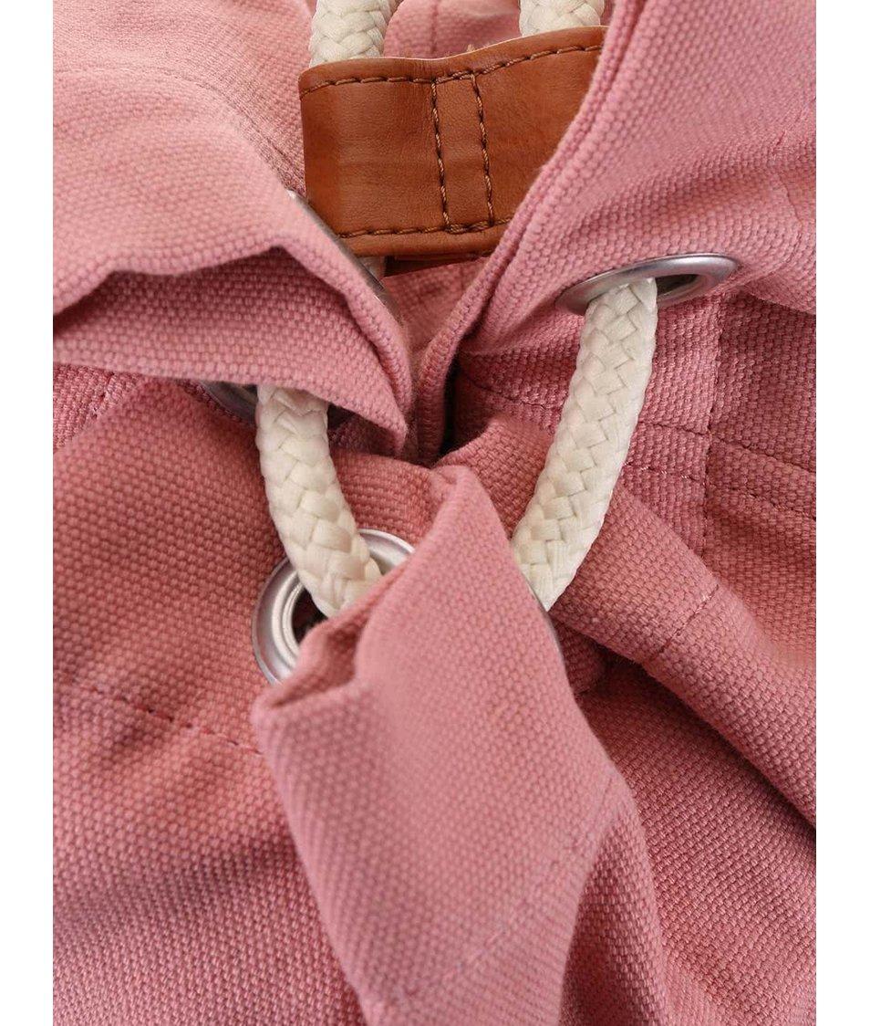 Růžový vak s béžovou přední kapsou Ridgebake Mid Fletcher