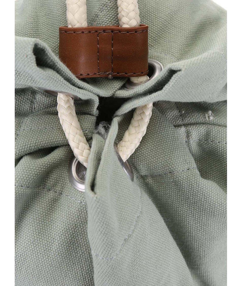 Světle zelený vak s krémovou přední kapsou Ridgebake Mid Fletcher