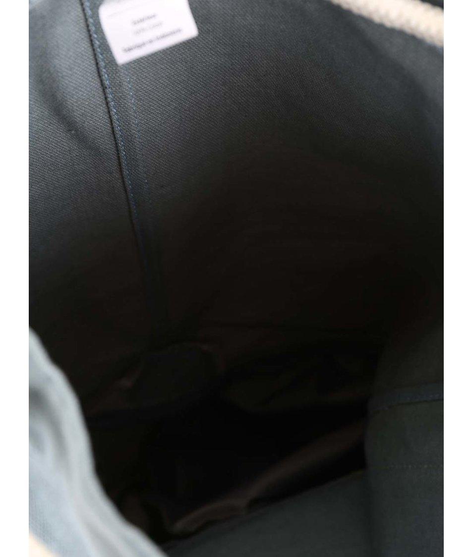 Tyrkysový vak s béžovou přední kapsou Ridgebake Mid Fletcher