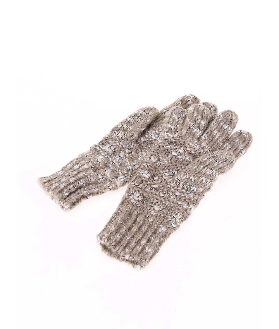 Béžové rukavice se srdíčkem Desigual Basico