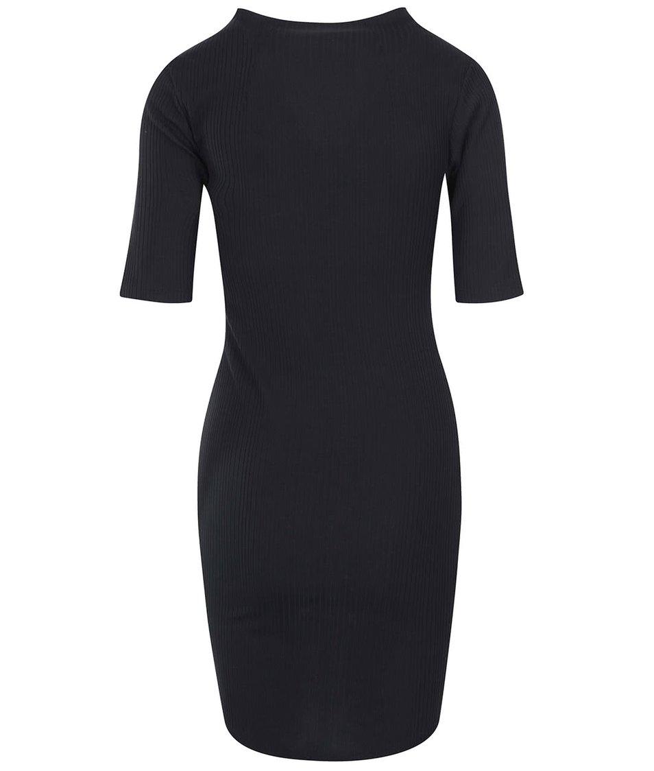 Černé šaty s 3/4 rukávem VILA Fielis