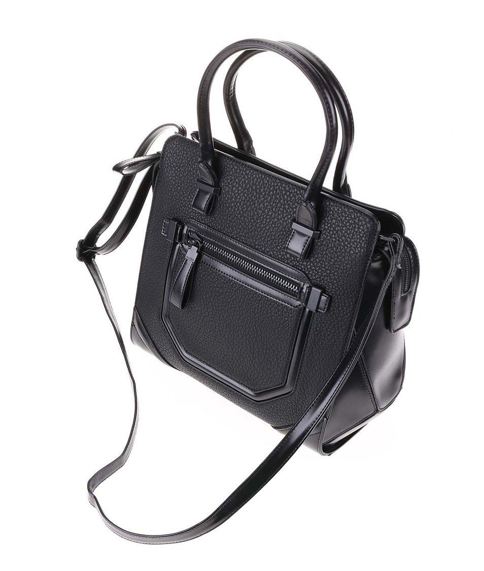 Černá hranatá kabelka s ozdobnou kapsou ALDO Pontinia