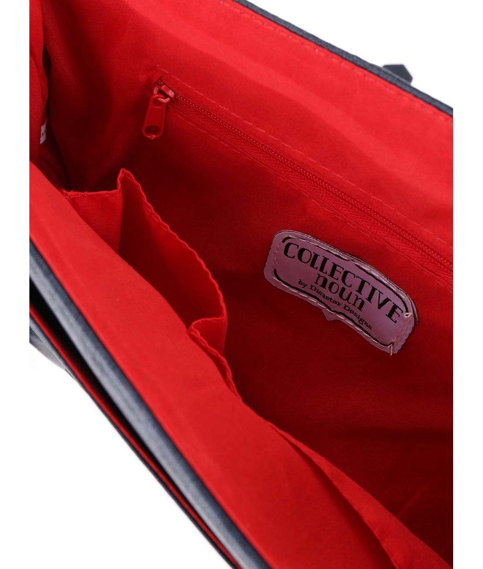 Korálovo-modrá taška přes rameno s bažanty Disaster Collective Noun
