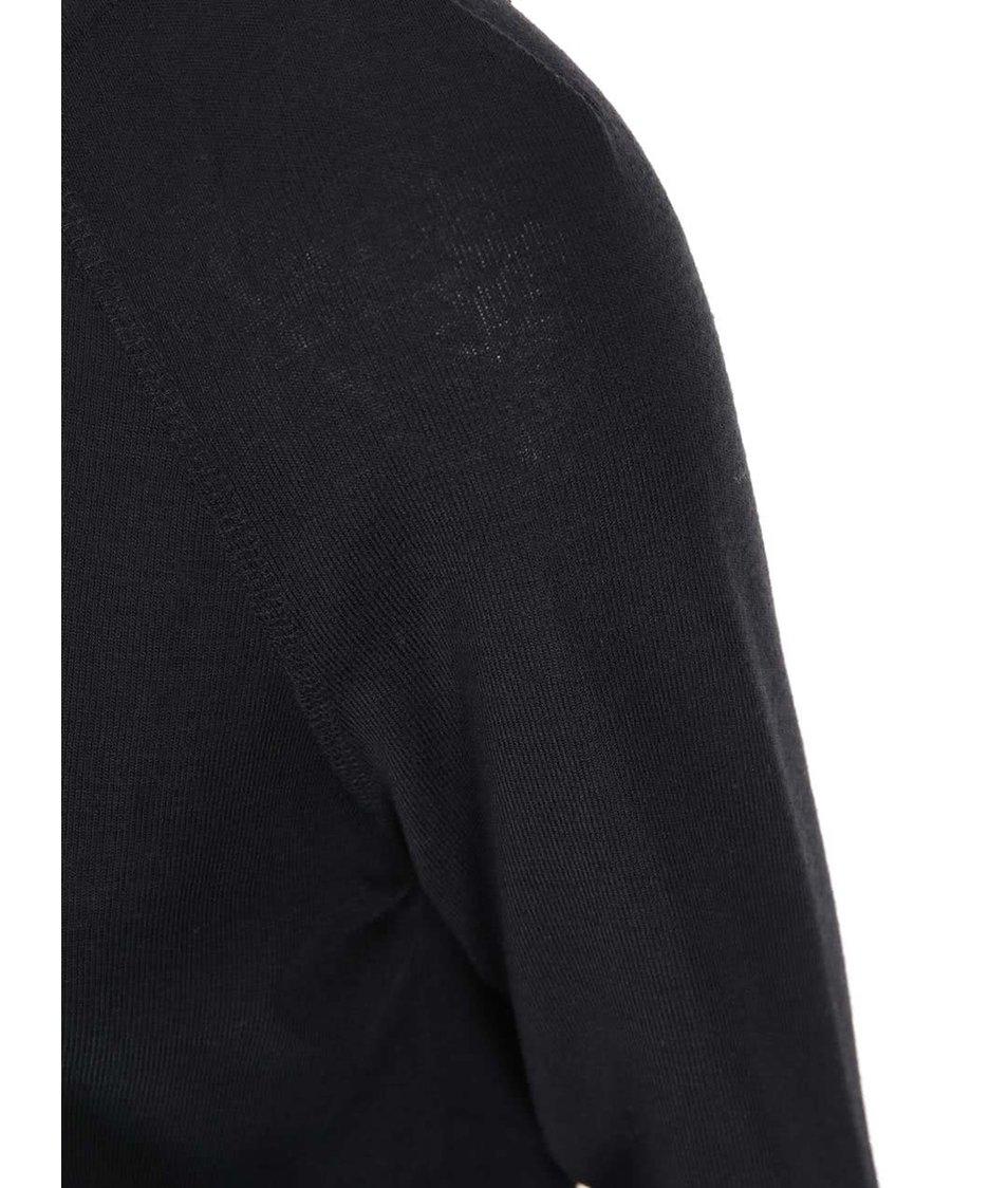Černé šaty s dlouhým rukávem VILA Expose