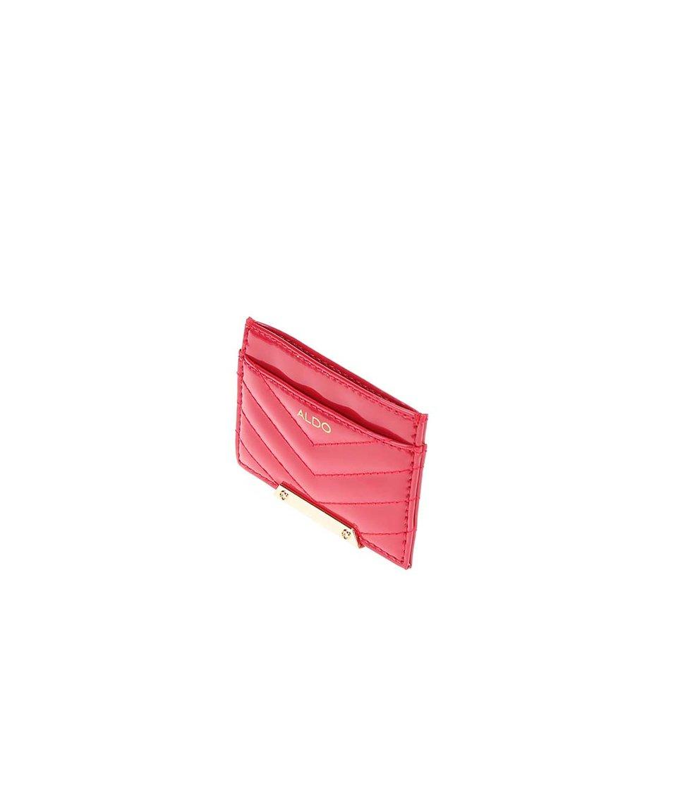 Malý dámský červený vizitkář ALDO Carvallo