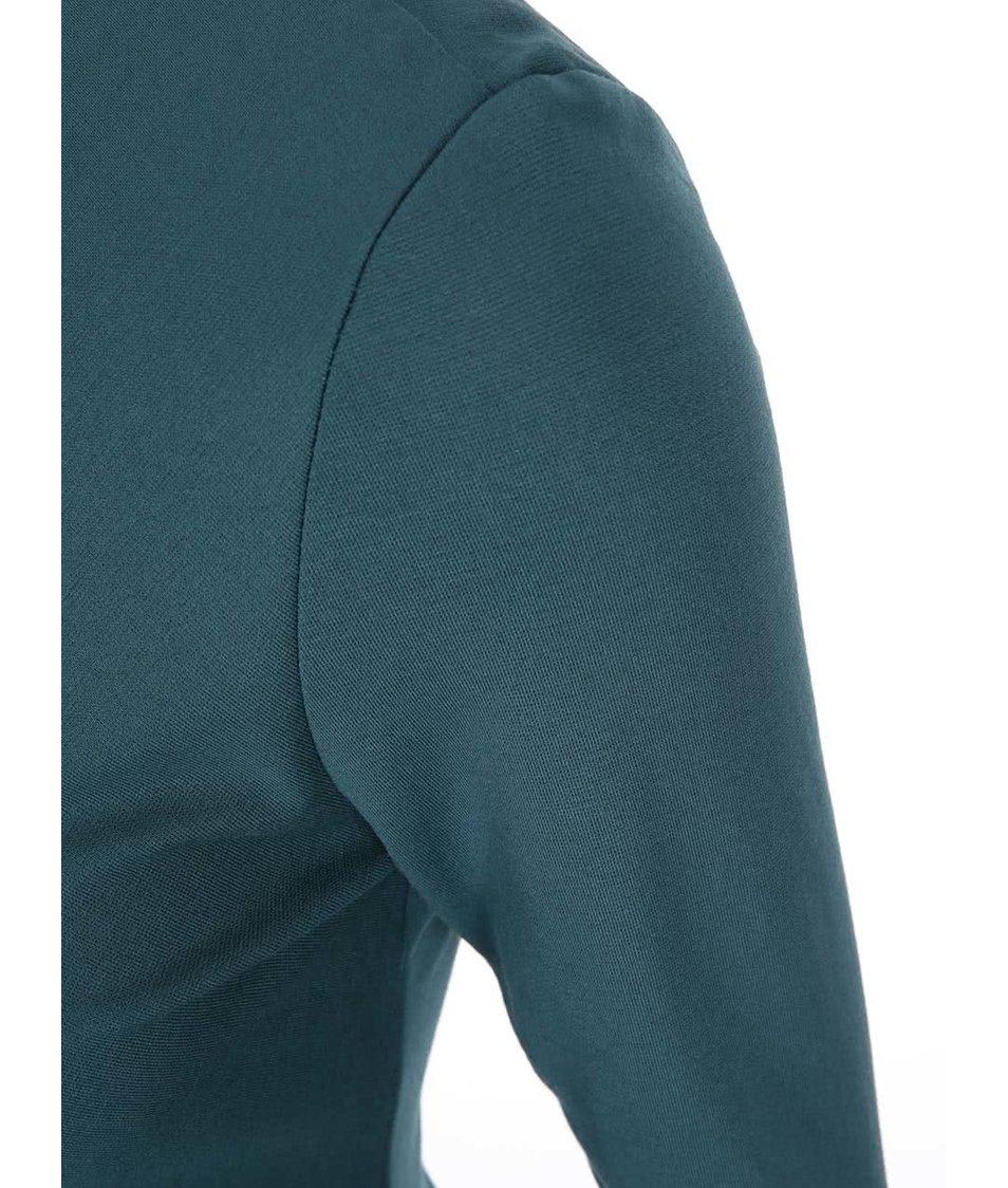 Tmavě zelené šaty s 3/4 rukávy VILA Gioli