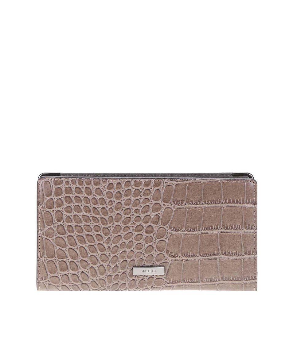 Hnědá peněženka s krokodýlím vzorem ALDO Apelian