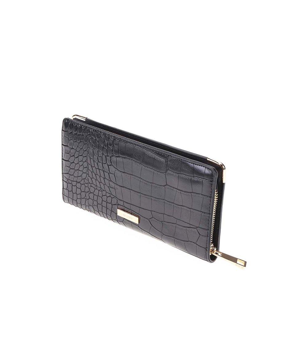 Černá peněženka s krokodýlím vzorem ALDO Apelian