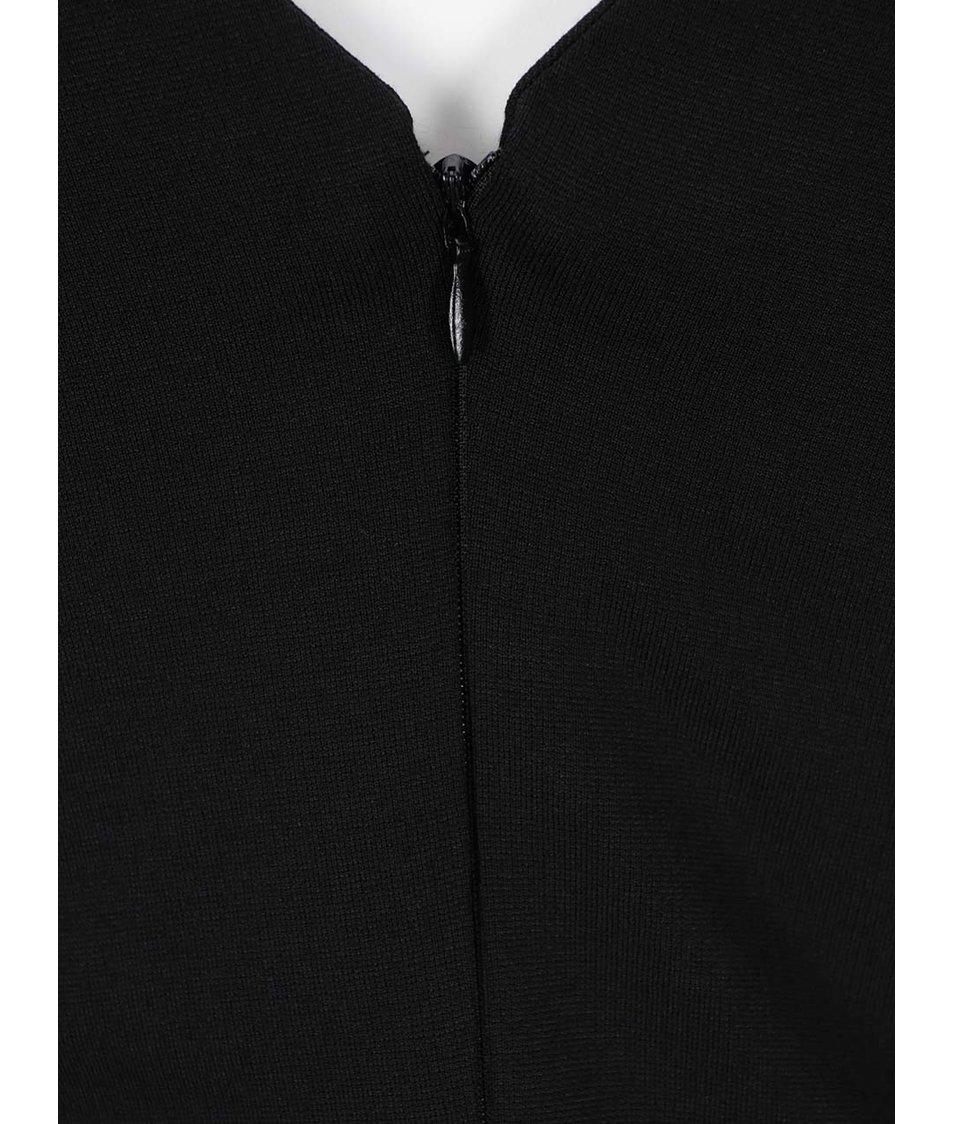 Černé šaty s 3/4 rukávy VILA Gioli