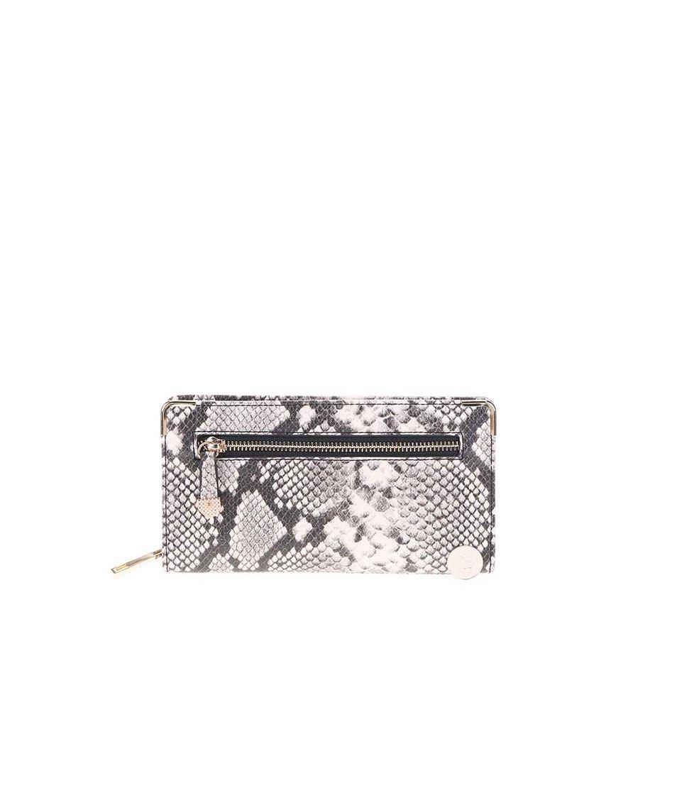 Šedo-fialová peněženka s hadím vzorem ALDO Apelian