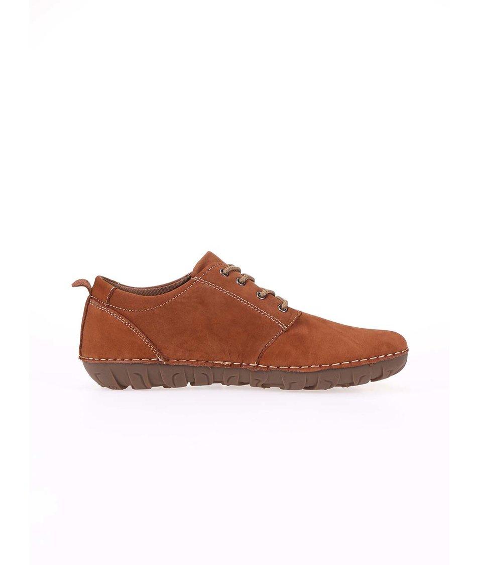 Hnědé kožené boty Dice Carter