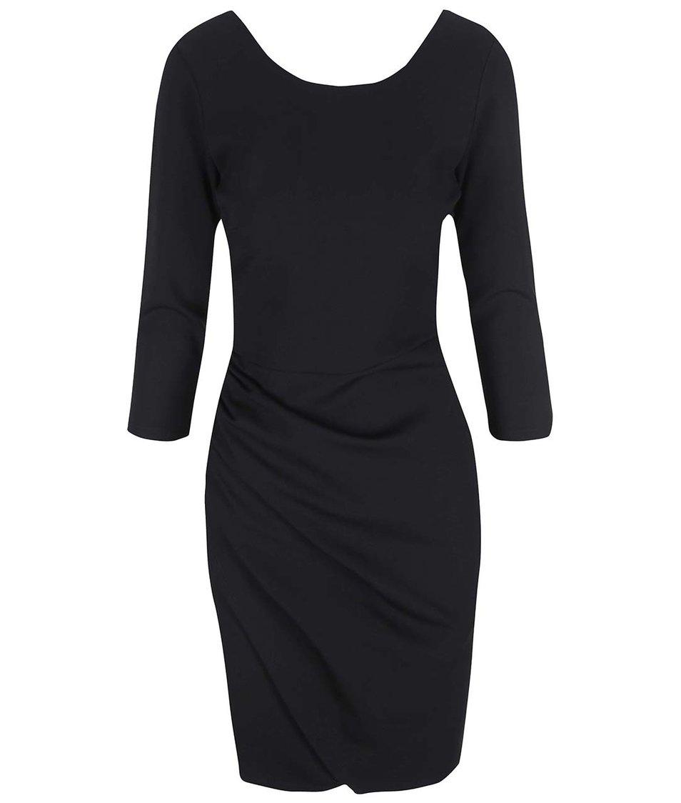 Černé šaty s 3/4 rukávy VILA Gioli New