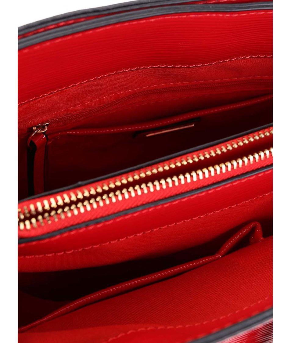Červená větší lesklá kabelka ALDO Lovan