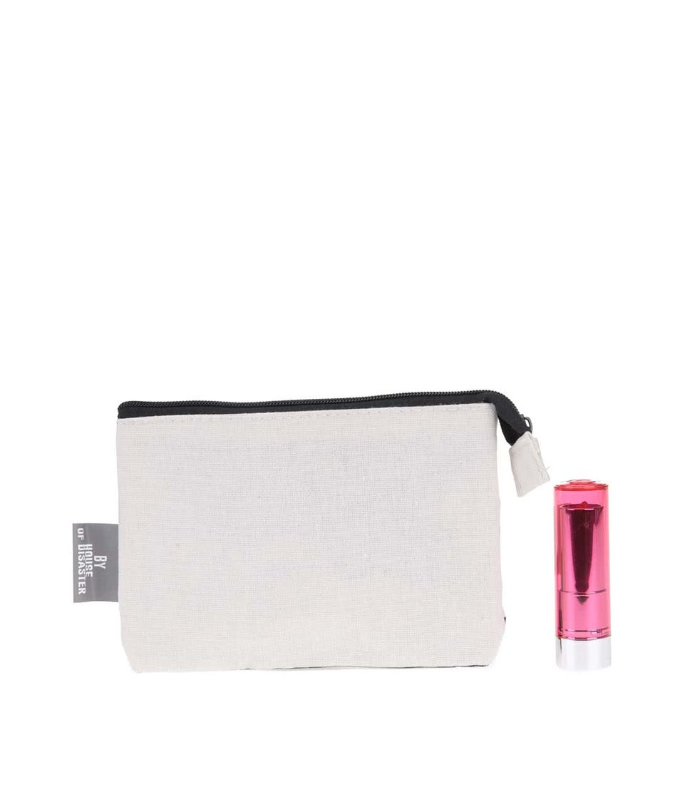 Bílá peněženka s geometrickým vzorem Disaster Arm Candy