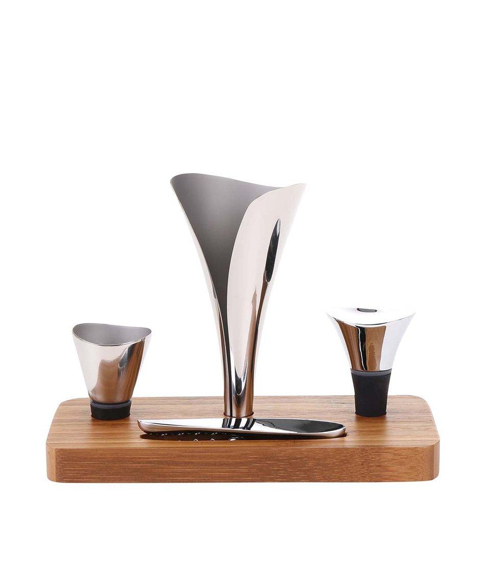 Set na víno s bambusovým podstavcem XD Design Airo Lux