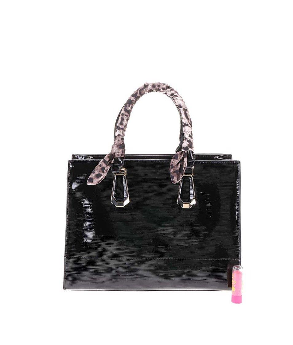 Černá větší lesklá kabelka ALDO Lovan