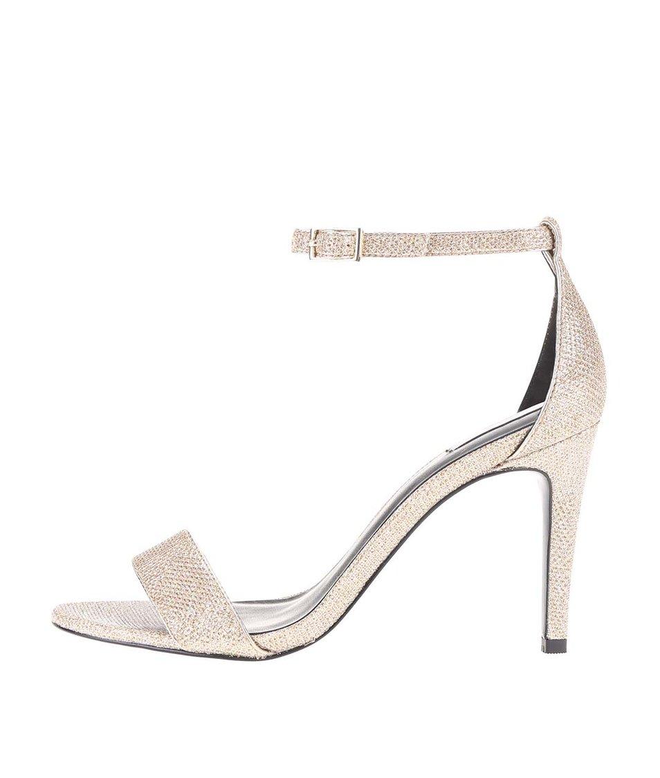 59052f988ce Páskové sandálky ve zlaté barvě na podpatku ALDO Umirema - Vánoční ...