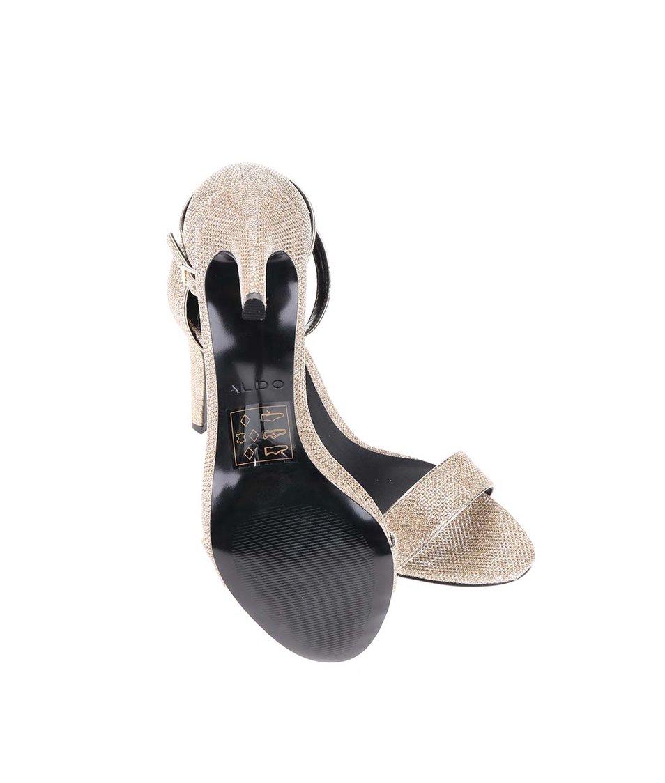 Páskové sandálky ve zlaté barvě na podpatku ALDO Umirema