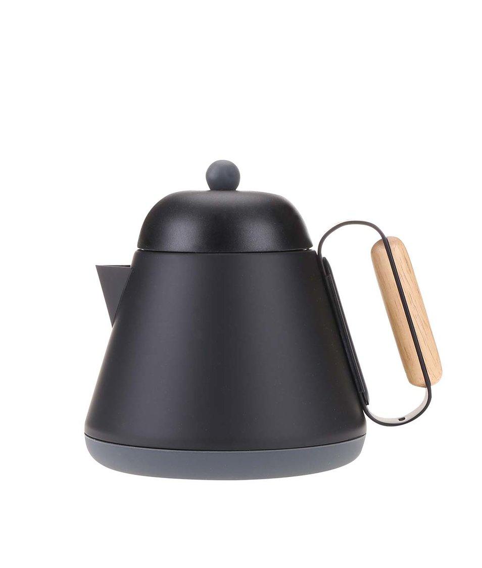 Černá nerezová konvice na čaj se sítkem XD Design Teako