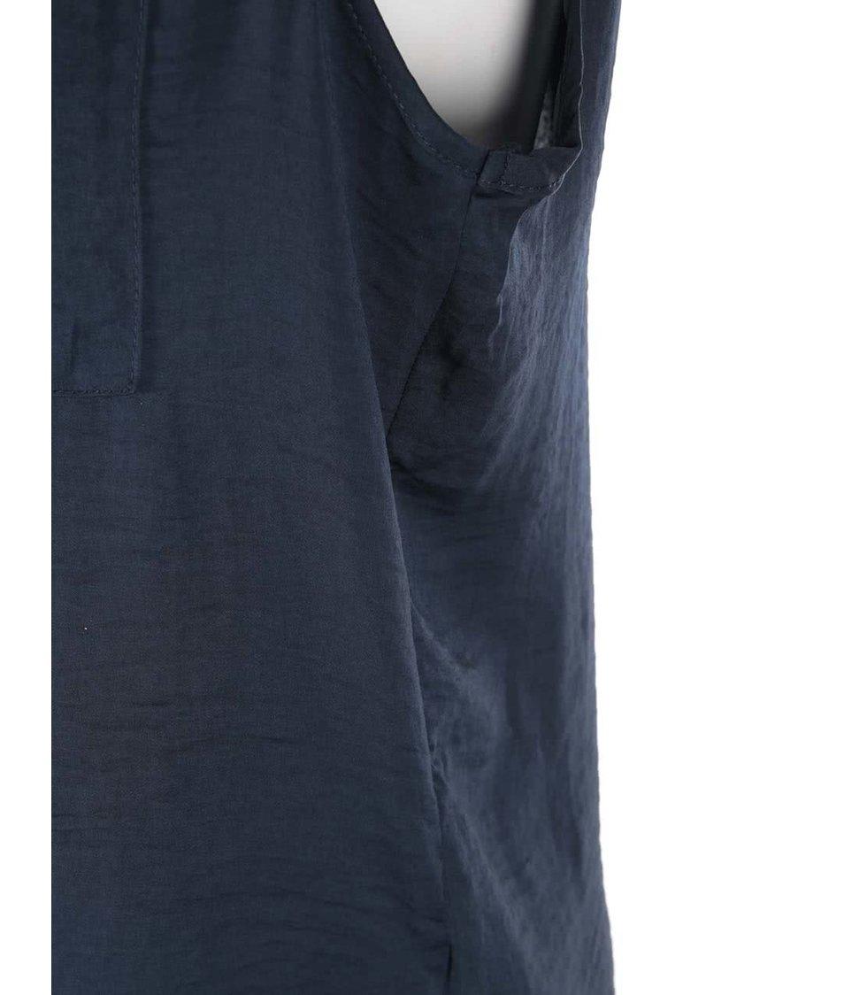 Tmavě modrý volnější top bez rukávů VILA Melli