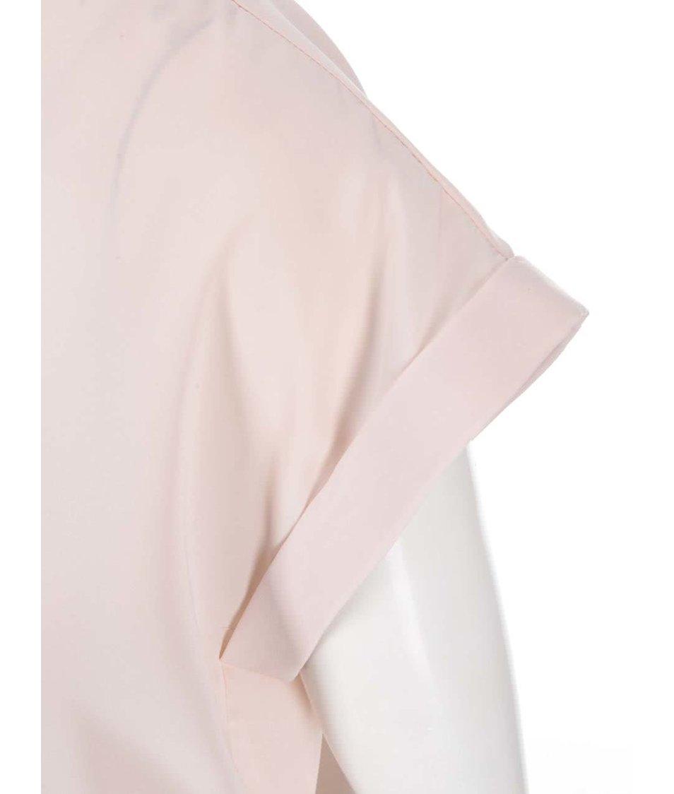 Růžový volnější top VILA Super