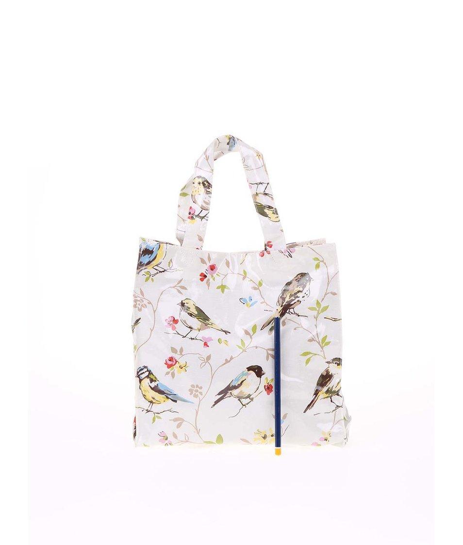 Krémová malá taška s ptáčky Cooksmart Dawn Chorus