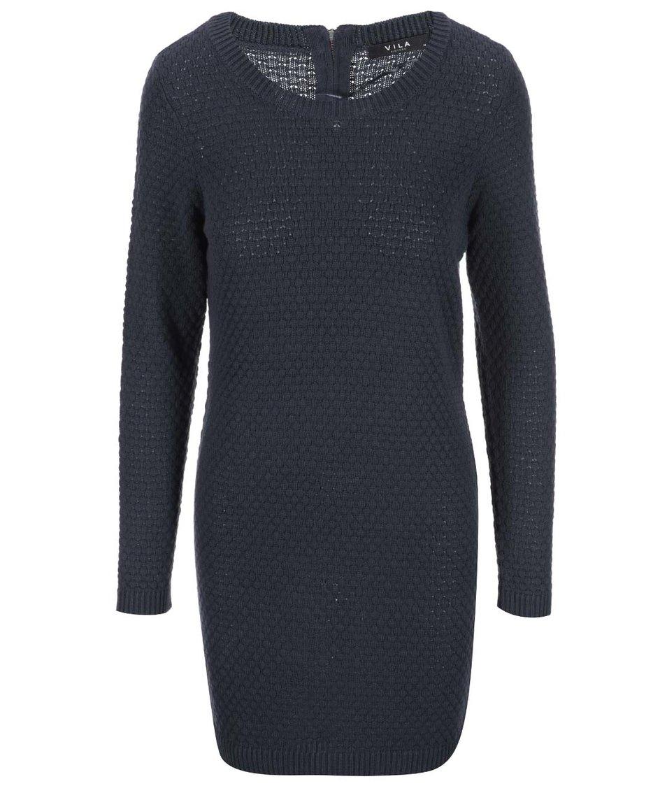 Modré svetrové šaty VILA Share