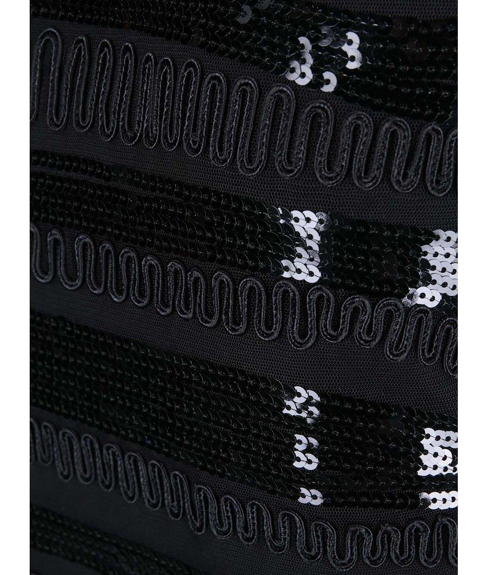 Černý top s flitry VILA Lifa