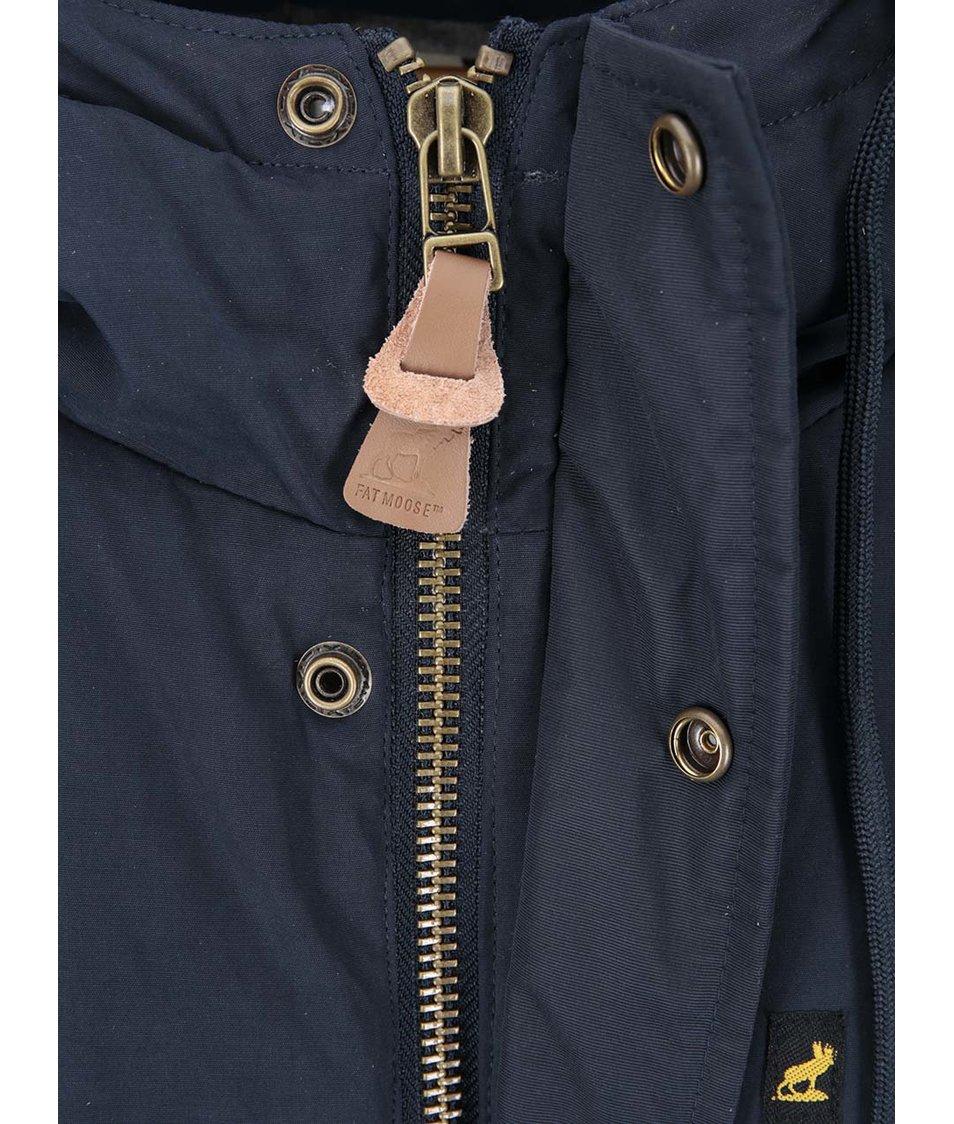 Tmavě modrá zimní bunda Fat Moose Hiker