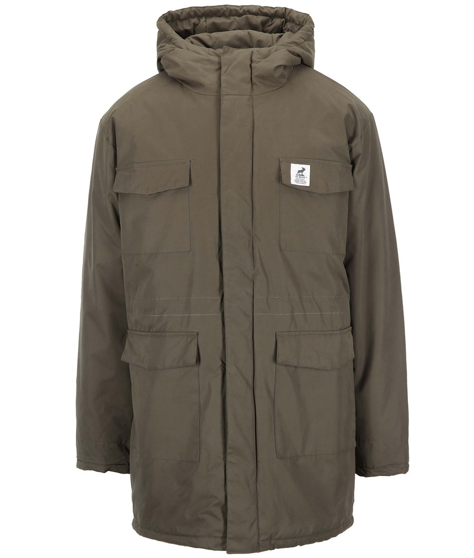 Khaki parka s kapucí Fat Moose Mountain