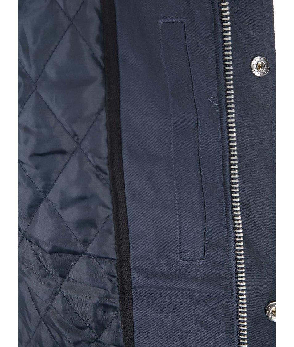 Tmavě modrá delší zimní bunda Fat Moose Outskirts