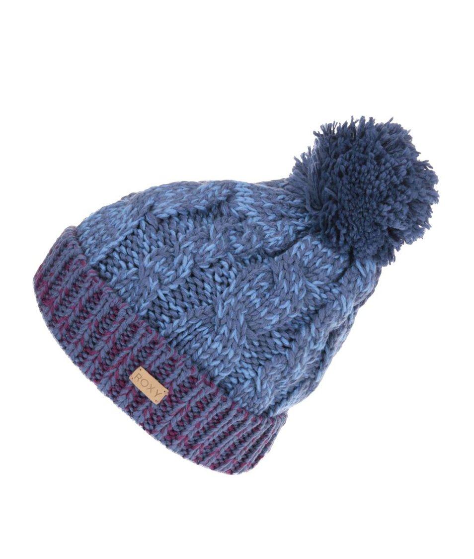 Fialovo-modrá zimní čepice s bambulí Roxy Torah Bright