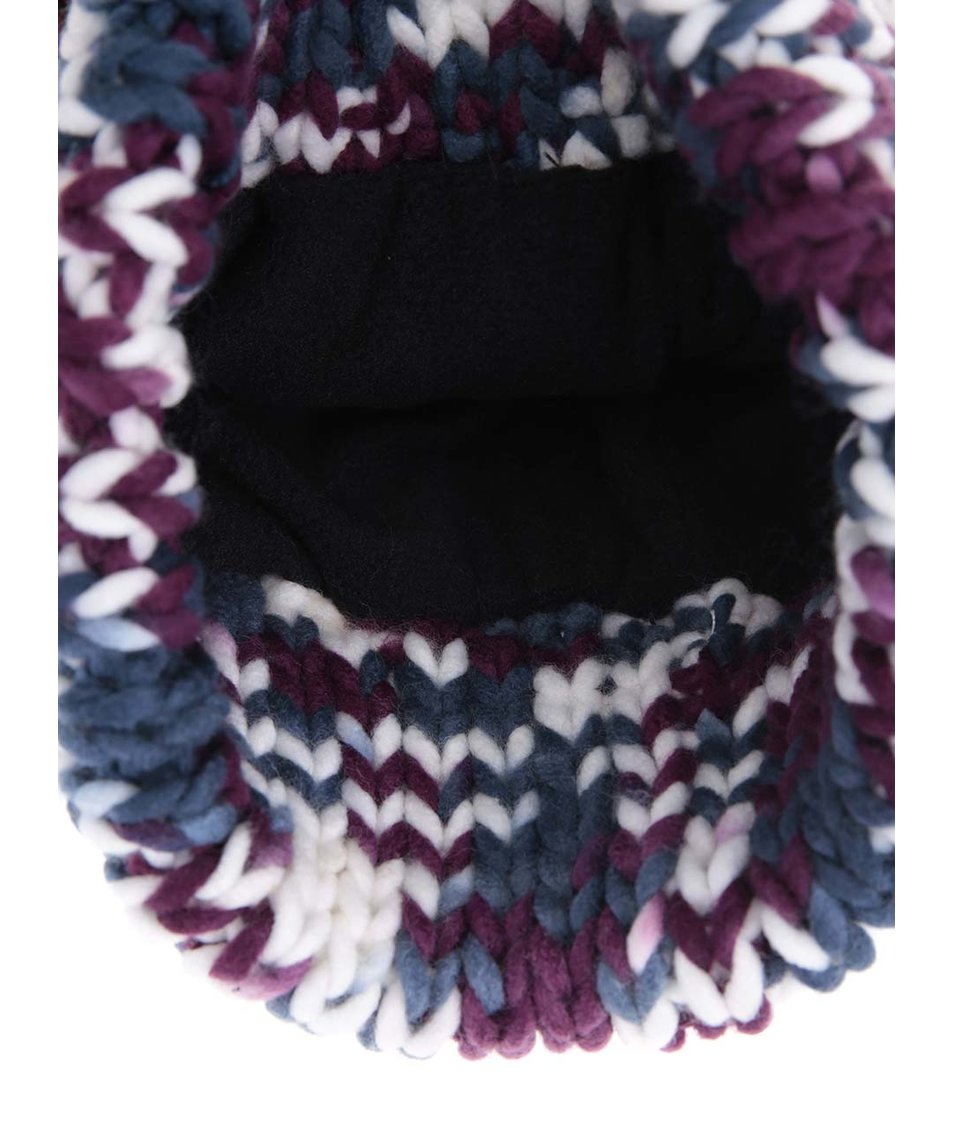Barevná zimní čepice s bambulí Roxy Torah Bright