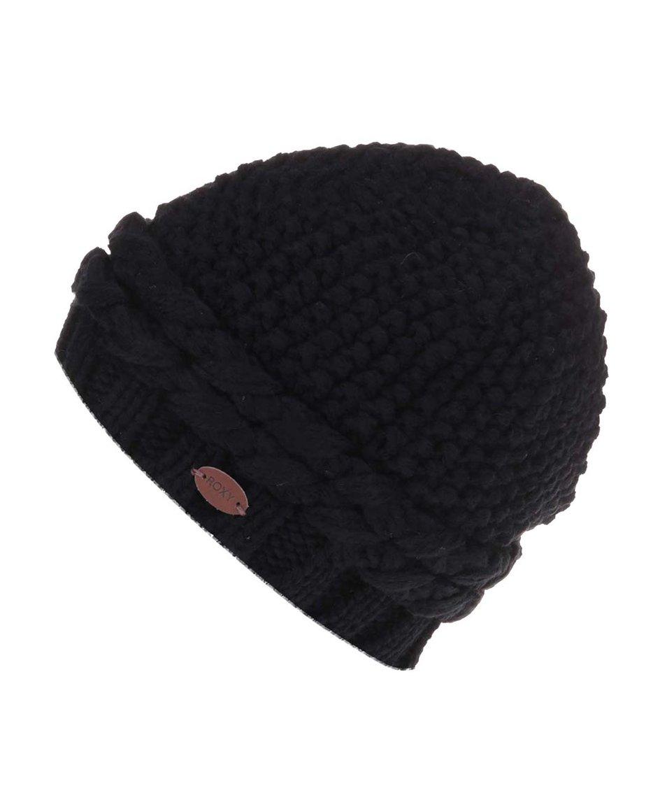 Černá zimní čepice s nášivkou Roxy Sea Margin